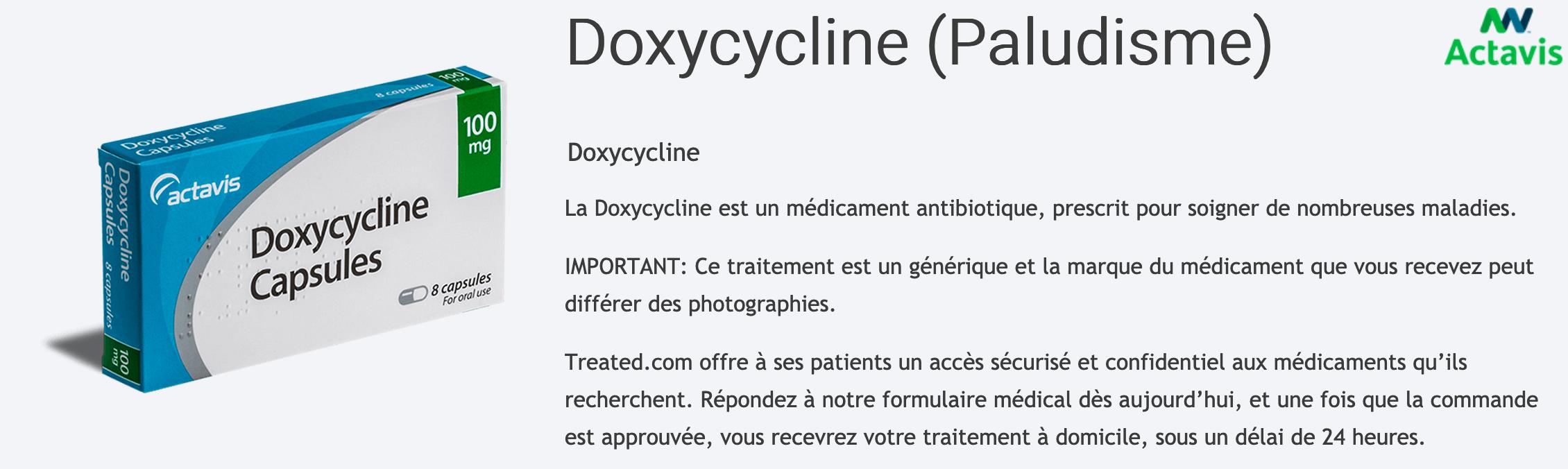 Doxycycline-Paludisme